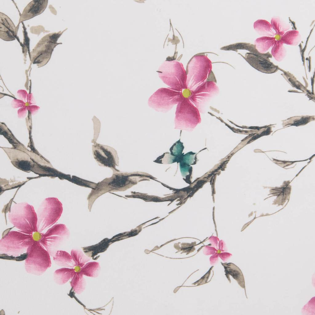 cherry blossom curtain panels chinese painting patterned drapes