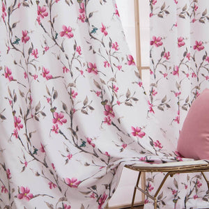 cherry blossom curtains bedroom drapes for sliding glass doors