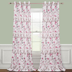 cherry red flower curtains living room custom drapes for sale