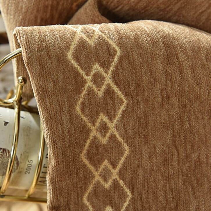 Coffee trellis jacquard curtains thermal farmhouse curtains and drapes