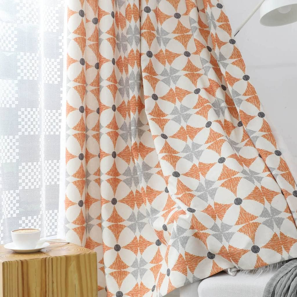 cute orange flame custom drapes kids bedroom blackout curtains for sale