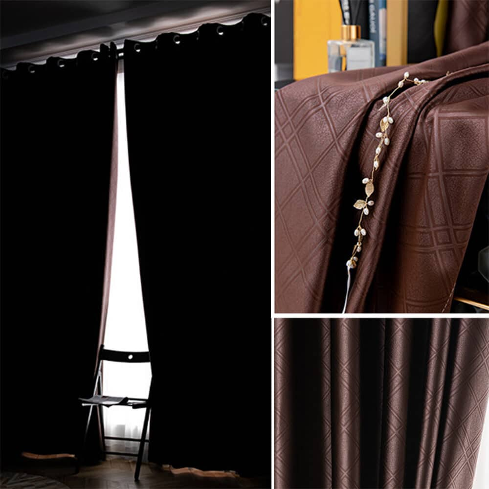 dark brown kitchen window drapes bedroom thermal blackout curtains for sale