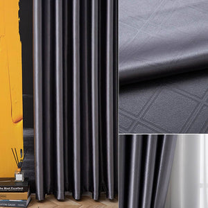 dark grey bedroom soundproof curtains blackout pinch pleat drapes for sale