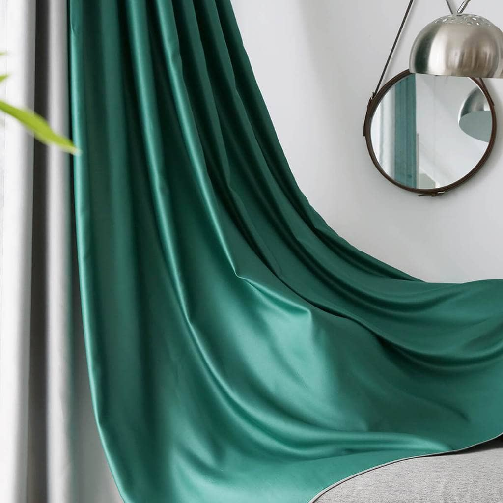 Emerald Green Blackout Curtains Thermal Insulated Bedroom Drapes Anady Top