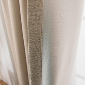 elegant beige linen bedroom eclipse blackout curtains and drapes for sale