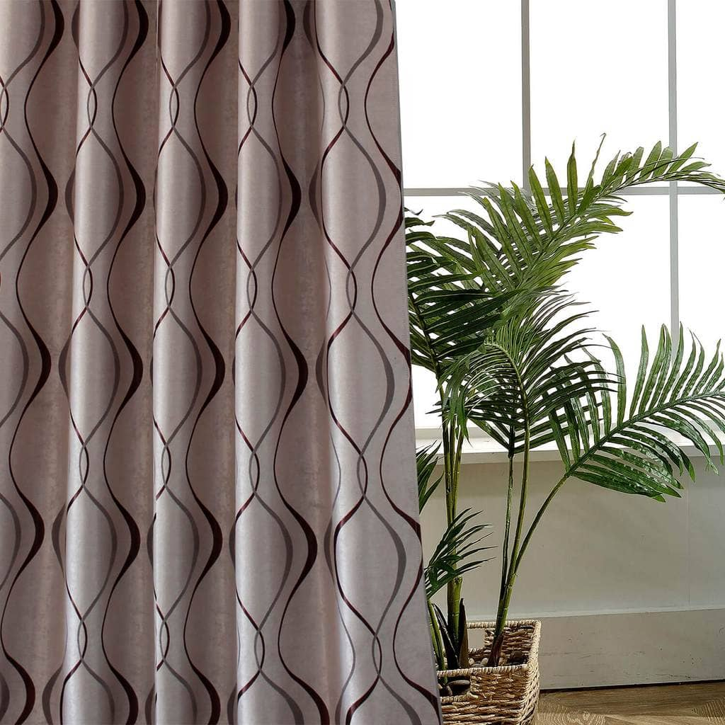 elegant brown dining room divider curtain panels pinch pleat drapes