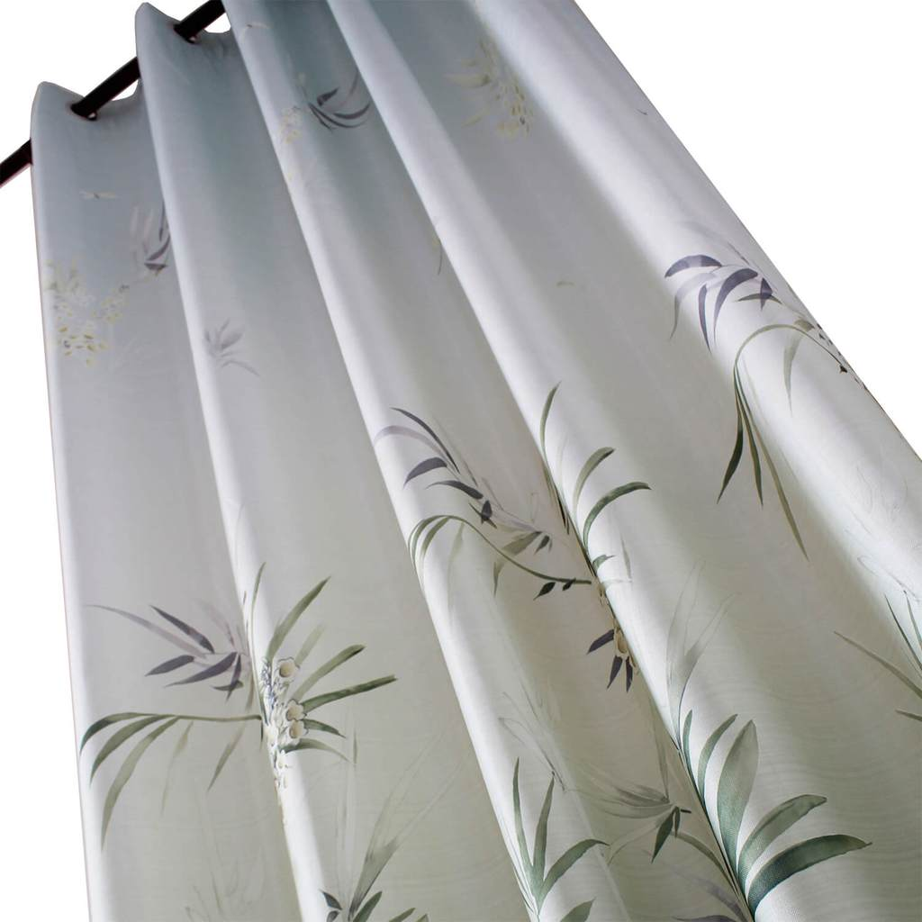 elegant grey leaf room divider curtain panel eyelet curtains for sale