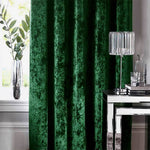 elegant hunter green dining room darkening curtains custom pinch pleat drapes