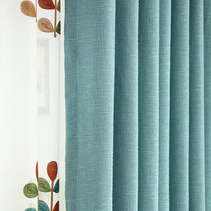 fancy teal blue dining room decorative curtains ceiling drapes for sale