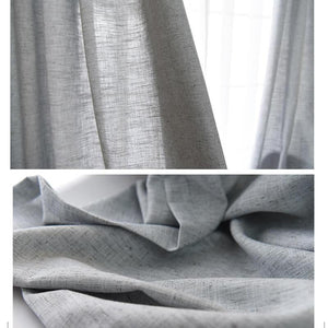 Gray curtains and drapes linen bedroom curtains for sale