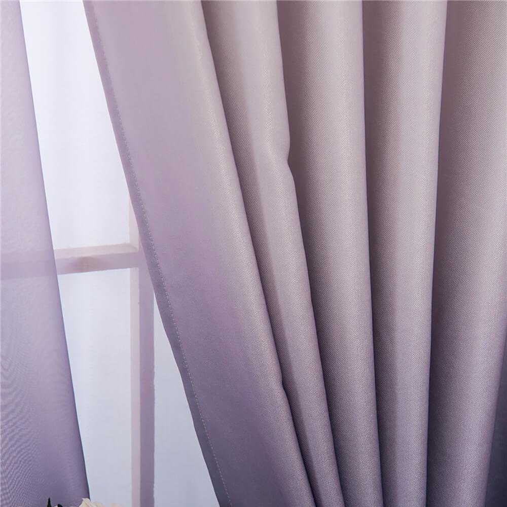 gray ombre sliding door curtains for sale