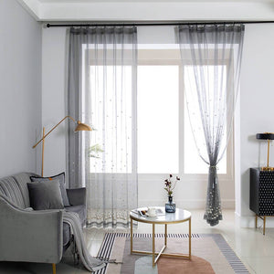Gray pinch pleat sheer curtains for living room net curtains for sale