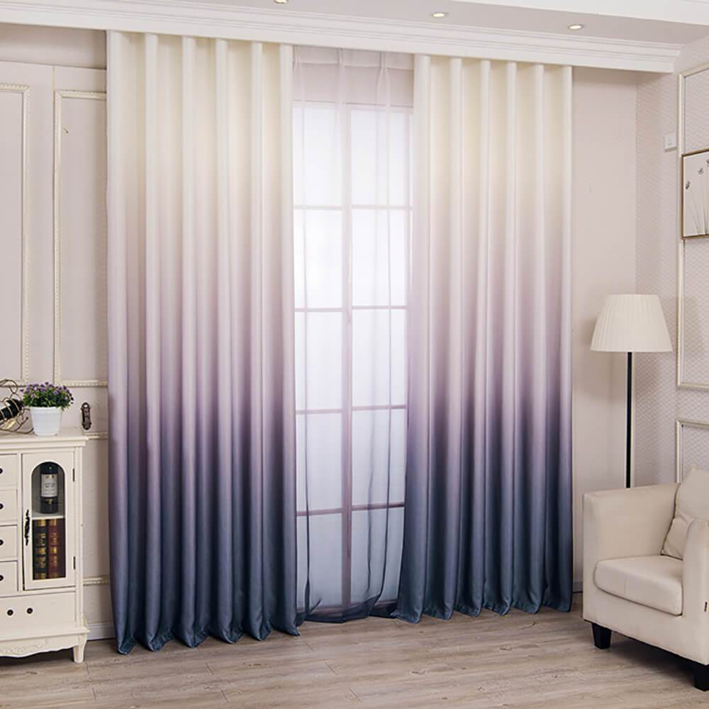 gray purple ombre curtains for living room