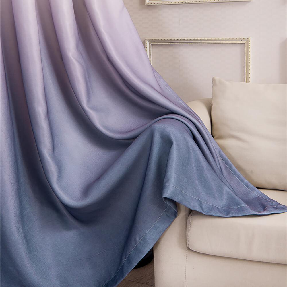 gray purple ombre door curtain panel luxury drapes