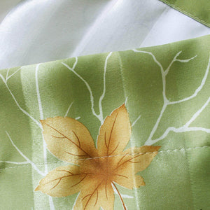 Green leaf tree valance
