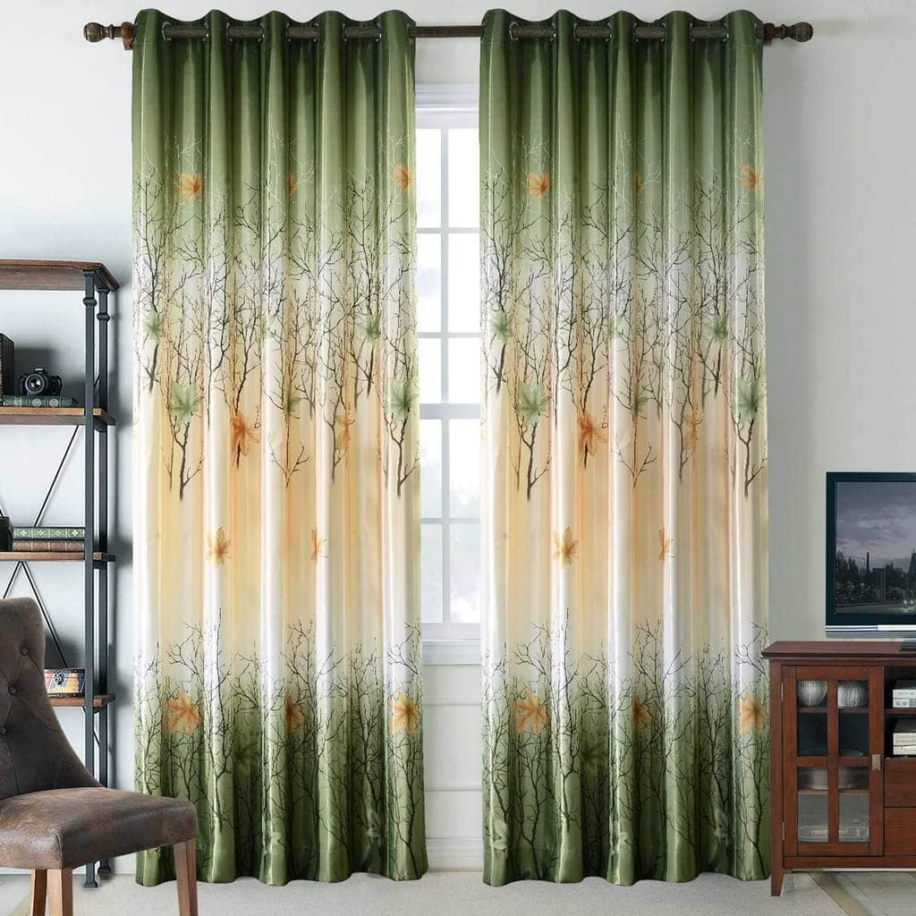 green maple tree living room drapes thermal grommet curtains for sale