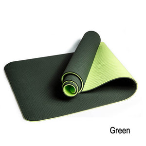 Non-Slip Texture Yoga Mat Eco-Friendly TPE High Elastic Professional Sports Double Colors Mat for All Type of Yoga, Pilates and Fitness