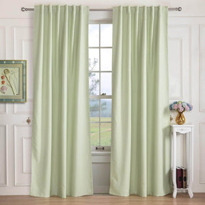 Room Darkening Thermal Insulated Blackout Curtains for Bedroom 2 Panels(Beige/Blue/Navy/Green) - Anady Top Space Design