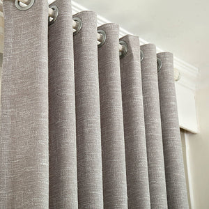 Solid Gray Curtains Grommet Top Drapes for Bedroom Set of 2 Panels - Anady Top Space Design