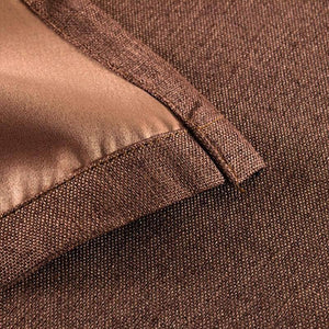 inexpensive brown linen bedroom eclipse blackout curtains and drapes for sale
