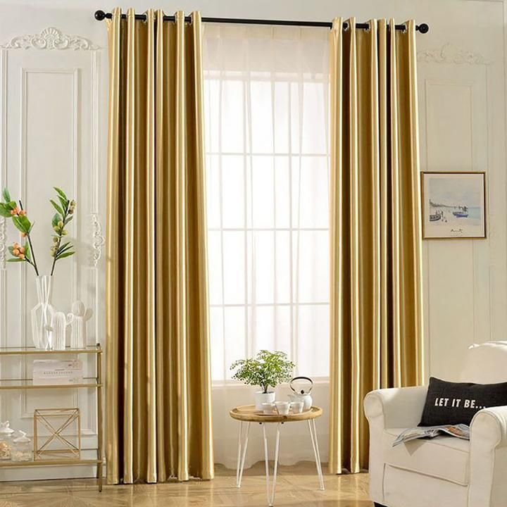 Koting Gold Curtains For Living Room Gold Blackout Bedroom Drapes Anady Top