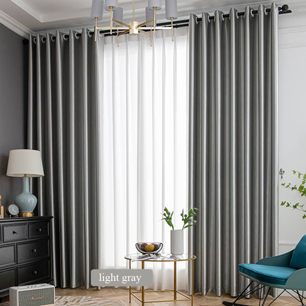 light gray living room divider curtain panels eyelet blackout drapes for sale