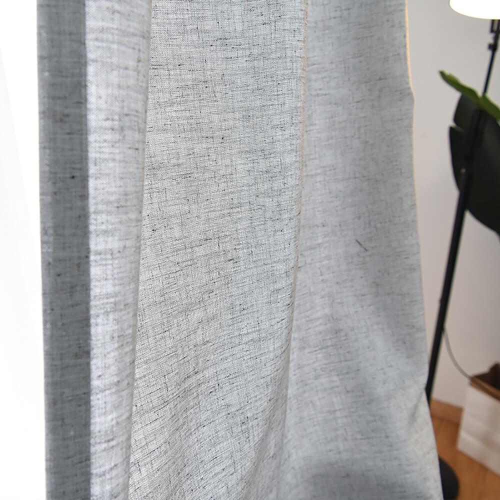 Linen curtain panels bedroom curtains grey drapes for sale
