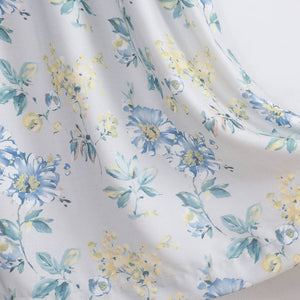long blue yellow flower room darkening curtains kids ceiling drapes