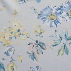 luxury blue yellow flower patterned curtains sliding door drapes for sale