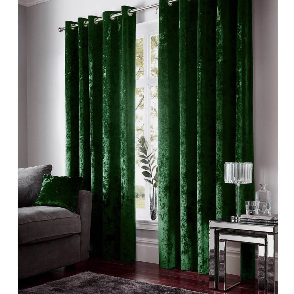 luxury emerald green blackout curtains girls bedroom thermal drapes for sale