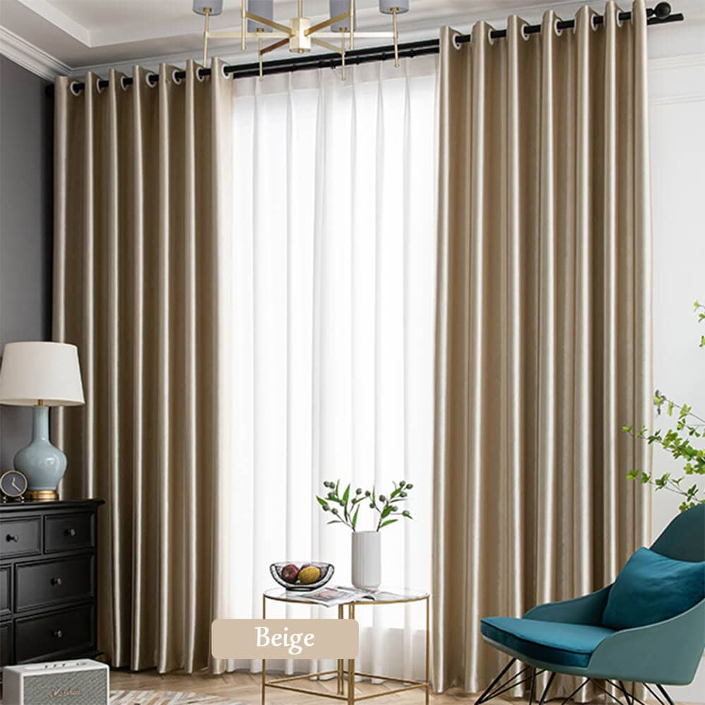 modern custom drapes beige grommet living room darkening curtains for sale