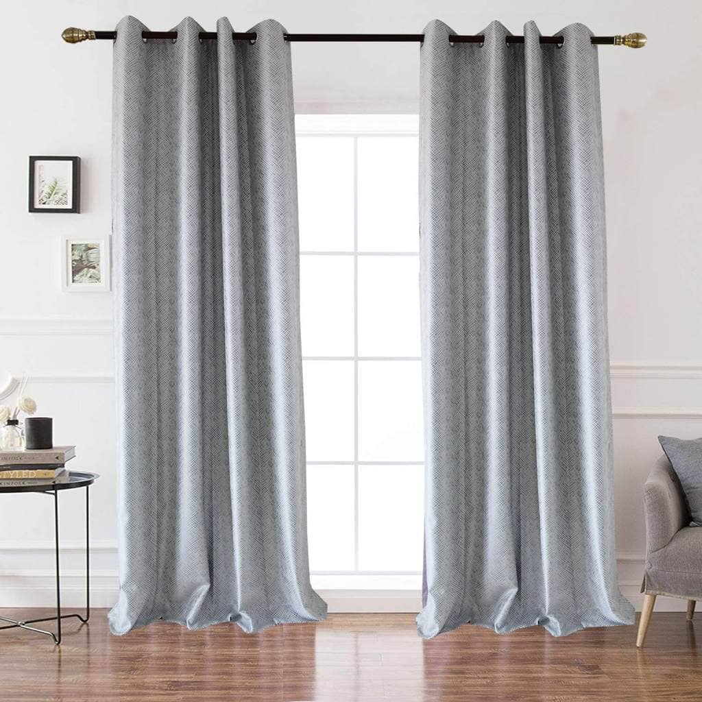 modern grey textured custom drapes living room darkening curtains for sale