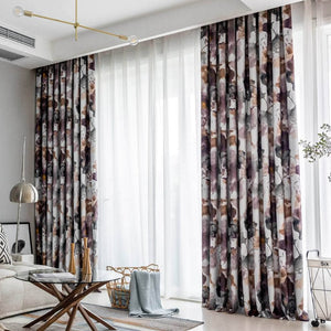 modern purple and brown living room darkening curtains pinch pleat drapes for sale