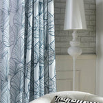Modern simplicity leaves pattern sheer drapes for bedroom