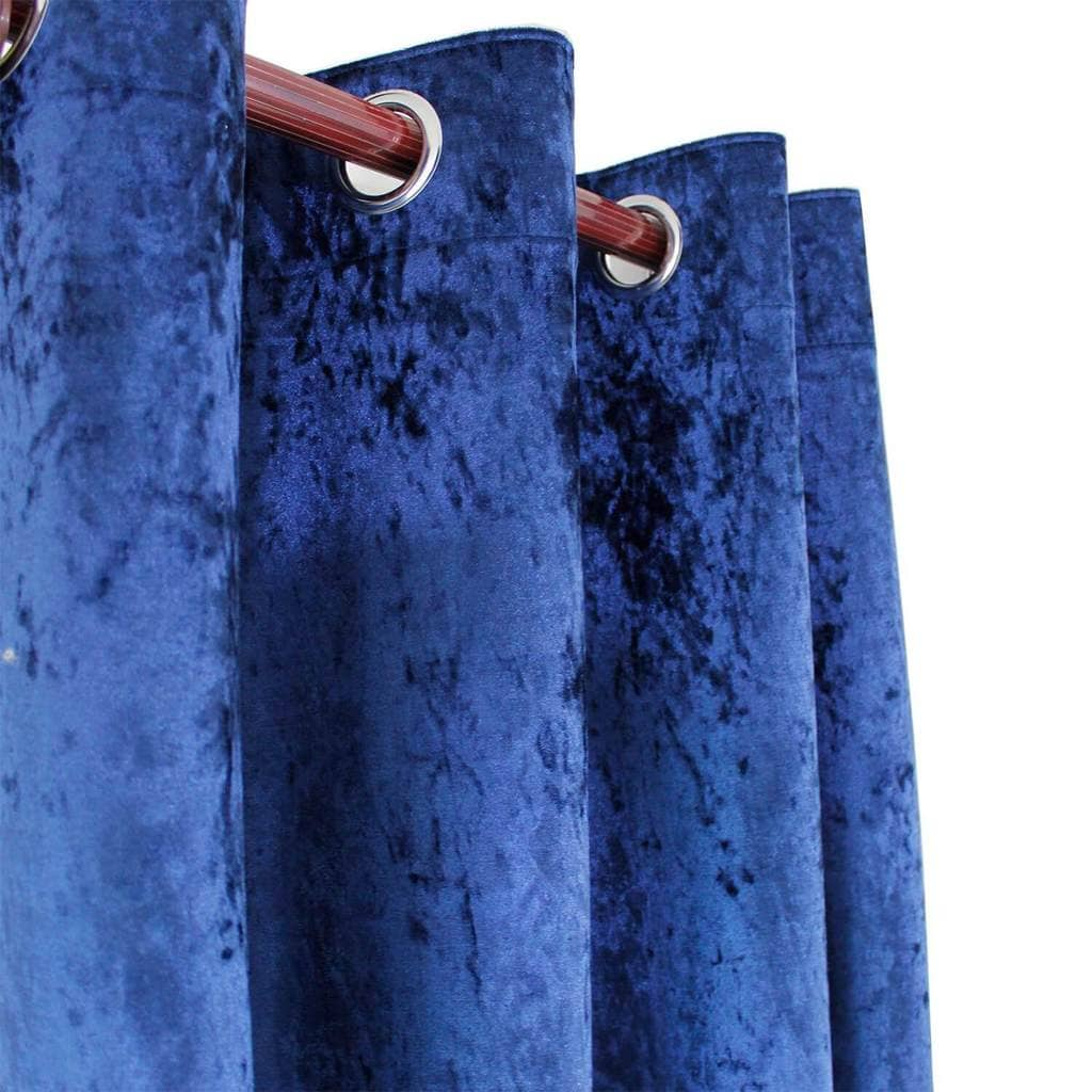 Navy Blue Velvet Curtains And Drapes For Living Room 1 Set Of 2 Panels Anady Top
