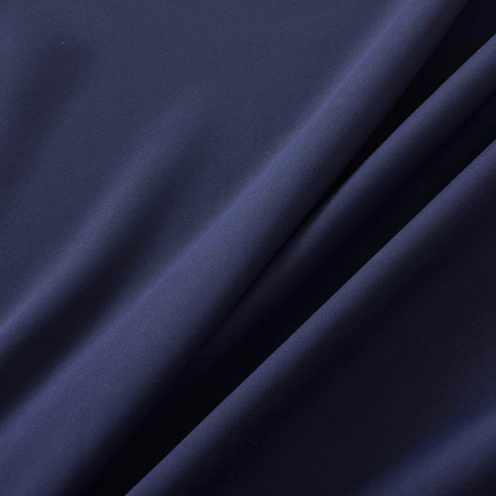 navy pinch pleat drapes thermal insulated bedroom window curtains