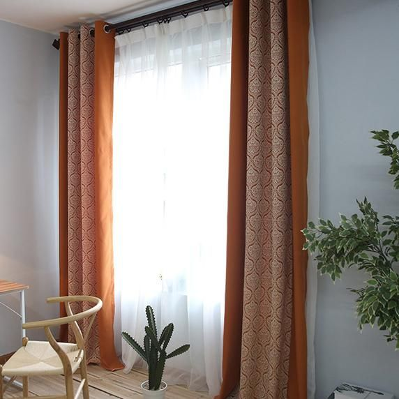 Orange curtains for living room eyelet curtains for sale