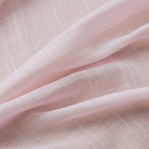 Rose Quartz Pink Sheer Curtains  Drapes for Bedroom 1 Set of 2 Panels - Anady Top Space Design