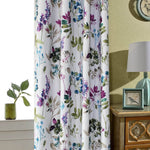 purple floral blackout curtains for living room