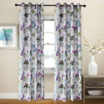 Purple grommet bedroom drapes floral room darkening curtains for sale