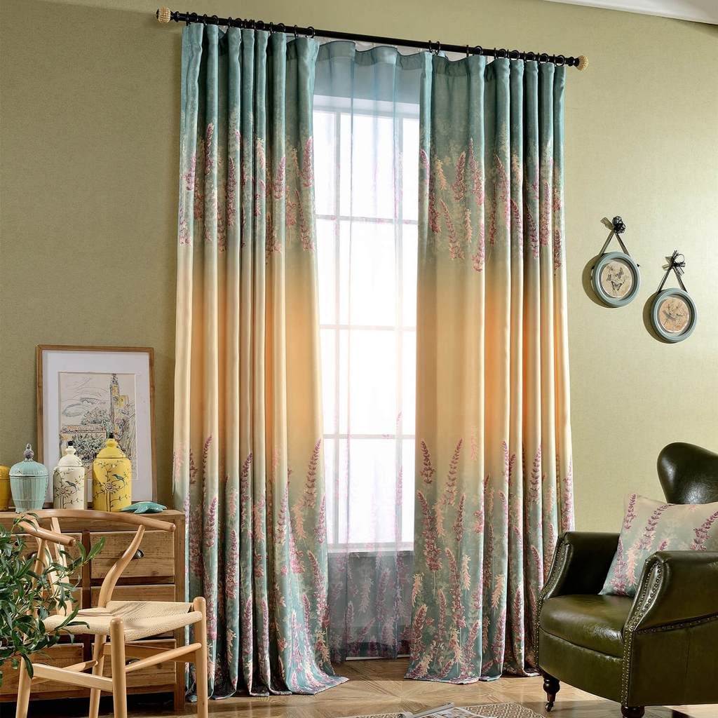 purple lavender curtains living room pinch pleat drapes for sale
