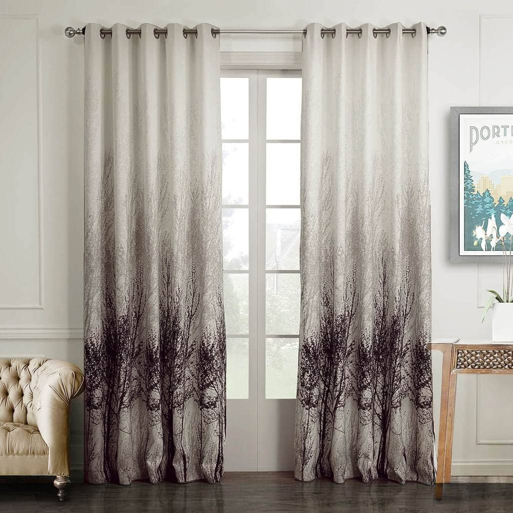 Watercolor Tree Curtains Drapes For Bedroom Living Room 2 Panels Anady Top