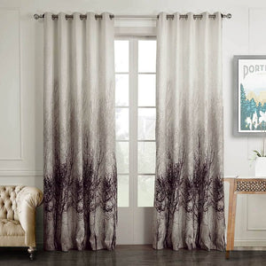 Purple tree white drapes for living room blackout curtains for sale