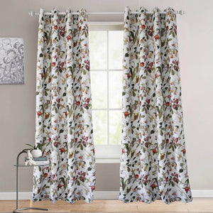 red flower drapes bird kitchen thermal curtains for sale