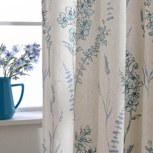 teal blue sage patterned curtains kitchen window drapes on sale