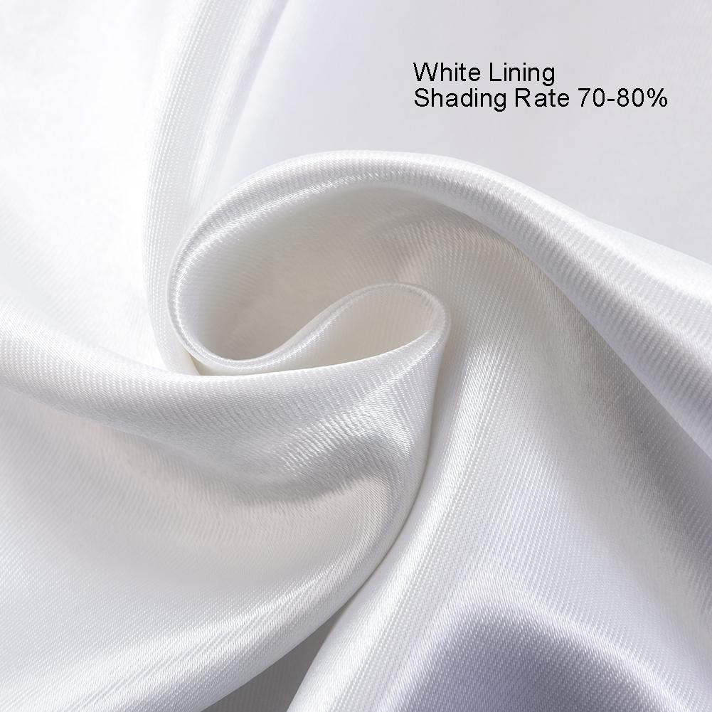 white curtain lining