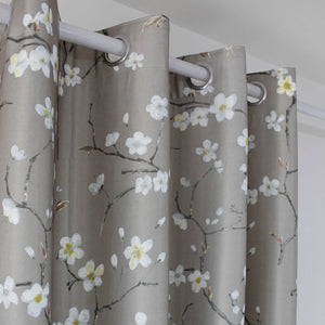 White Plum Curtains for Living Room Decro Tan Drapes 2 Panels - Anady Top Space Design