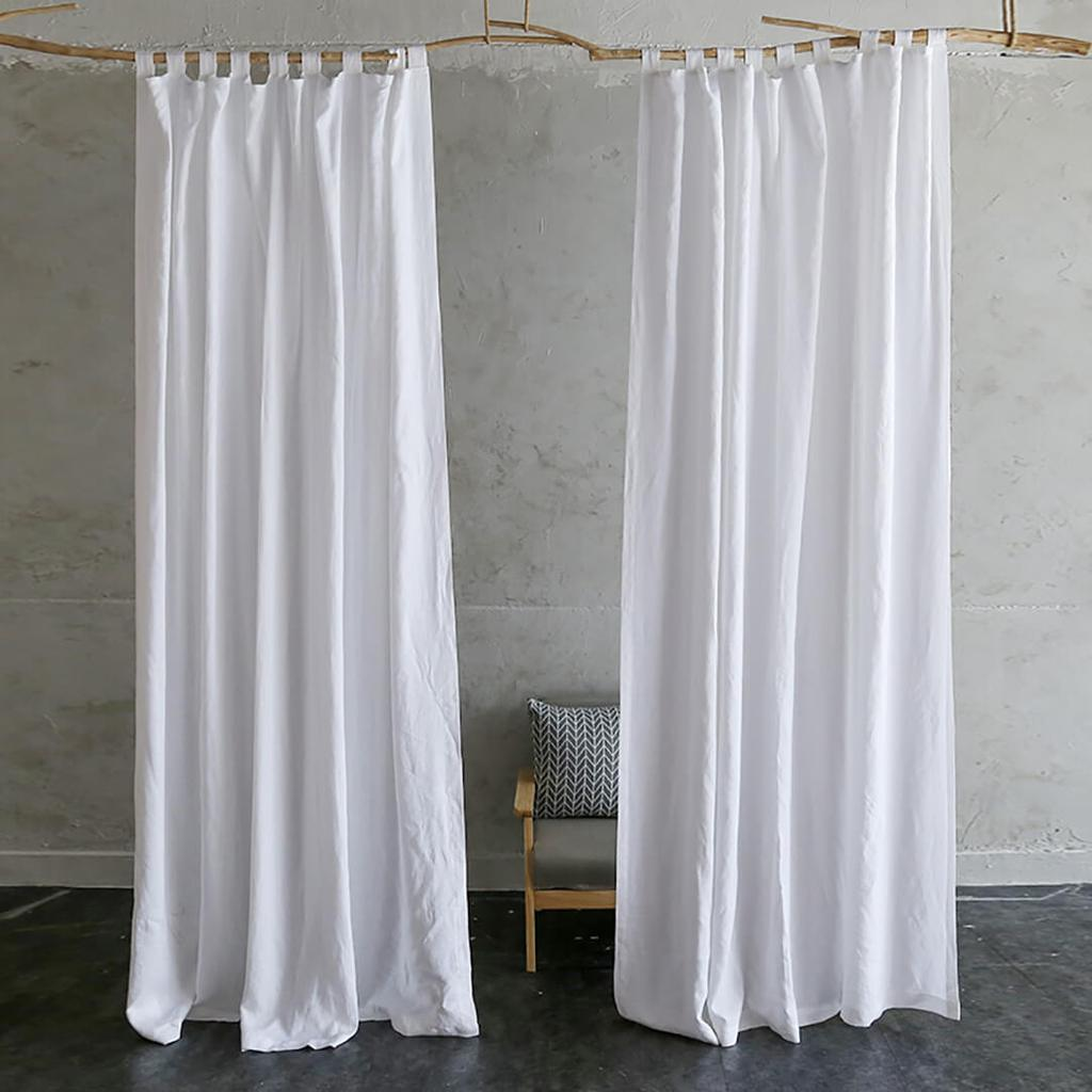 White linen drapes for living room white linen tab top curtains for sale