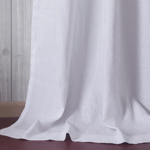 White linen grommet curtains bedroom privacy ceiling drapes for sale