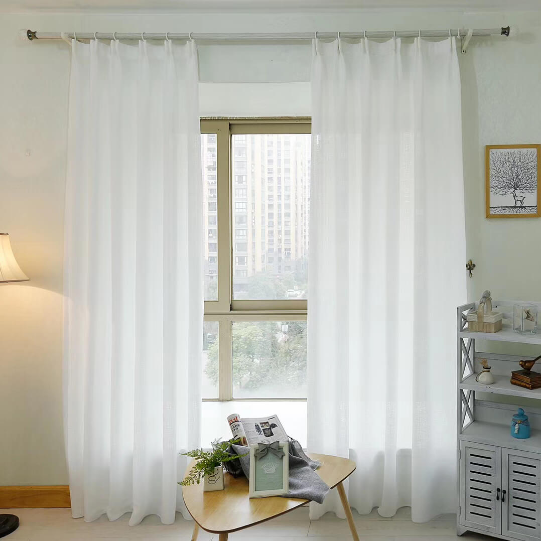 Anady Top White Sheer Curtains Simple Voile 2 Panels - Anady Top Space Design